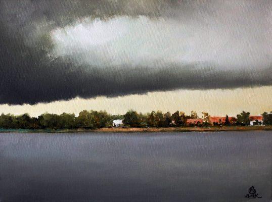 Widok na jezioro Tałty od Starych Sadów
